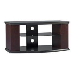 Bush Furniture - Bush Pimlico 42 in. TV Stand with Media Storage Multicolor - VS33842-03 - Shop for Visual Centers and Stands from Hayneedle.com! The Bush Pimlico 42 in. TV Stand with Media Storage is a sleek low-profile stand with ample storage space. Every good entertainment center needs space to keep your media and hide the wires. The Pimlico does all of this and more! This piece features 1.5-inch top and bottom shelves a tempered glass shelf and side media storage bays to keep all of your entertainment accessories organized. Back openings make it easy for you to access cords and wires for easy hook-up and management. Measures 42.01W x 23.19D x 21.95H inches and accommodates TVs up to 42 inches or 100 lbs.About Bush FurnitureBush Furniture is the eighth largest furniture company in the United States. Bush manufactures high-quality products which are designed to be easily assembled and provide great value for the price. Bush furniture is made from a combination of particleboard fiberboard and solid wood components. The use of real wood components will be noted in the product description if applicable.Bush Industries has over 4 000 000 total square feet of manufacturing warehousing and distribution space. This allows for a very wide selection of high-quality furniture with the ability to ship quickly. All standard residential Bush products carry a generous 6-year warranty. All Bush business furniture including the A series C series and Quantum series is backed by a 10-year warranty from Bush one of the best in the industry.Please note this product does not ship to Pennsylvania.