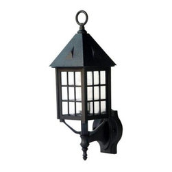 Acclaim Lighting - Outdoor Lighting. Outer Banks Collection Wall-Mount 1-Light Outdoor Matte Black - Shop for Lighting & Fans at The Home Depot. The Outer Banks collection 1-light wall-mounted lantern is made of our Durabrite, a plastic material that doesn't rust or corrode and resistant to UV rays. This makes this fixture an ideal choice for harsh environments such as coastal saltwater areas. Adding to the unique design, this fixture features a clear seeded acrylic globe that resists breakage.