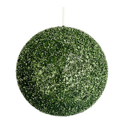 Silk Plants Direct - Silk Plants Direct Glittered Ball Ornament (Pack of 8) - Green - Silk Plants Direct specializes in manufacturing, design and supply of the most life-like, premium quality artificial plants, trees, flowers, arrangements, topiaries and containers for home, office and commercial use. Our Glittered Ball Ornament includes the following: