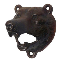 EttansPalace - Grizzly Bear of The Woods Cast Iron Bottle Opener - Our vintage collectible, cast iron brown bear bottle opener is created using the time-honored sand cast method, then hand-painted in a s ingle, vintage hue from fur to teeth. This exclusive, antique replica cast iron bottle opener pops tops with its wide-opened mouth and is ready to be wall-mounted for proud vintage display or given as an imaginative gift.