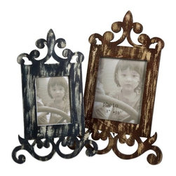 "IMAX CORPORATION - Eplie Wood Frames - Set of 2 - Set of two eplie wood frames with a distressed finish, each with a scroll design that creates an easel effect. Comes in various sizes measuring around 23""L x 10.75""W x 16.25""H each. Shop home furnishings, decor, and accessories from Posh Urban Furnishings. Beautiful, stylish furniture and decor that will brighten your home instantly. Shop modern, traditional, vintage, and world designs."