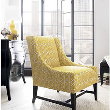 Contemporary Living Room Chairs yellow chair