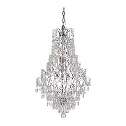 Trans Globe Lighting - Silver Cascade Chandelier in Polished Chrome with Bead St -