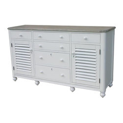 EuroLux Home - New Chest of Drawers White/Cream Painted - Product Details