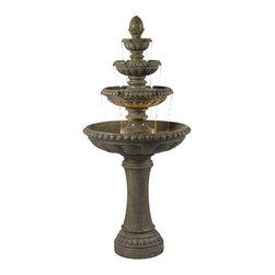 Kenroy - Kenroy 50231TE Rialto Outdoor Floor Fountain - Kenroy 50231TE Rialto Outdoor Floor Fountain