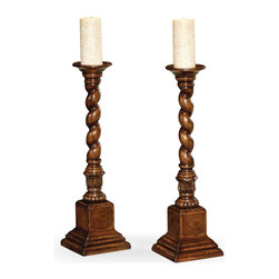 Jonathan Charles - New Jonathan Charles Candlestick Walnut - Product Details