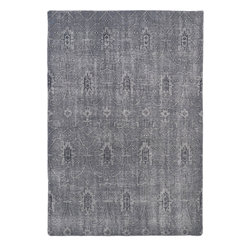 "Kaleen - Kaleen Restoration RES01, Grey, 4' x 6' Rug - The Restoration collection puts the finishing touches on a classic reproduction for some of the most unique rugs in the world. Hand-knotted in India of 100% wool, each rug is intentionally distressed by hand-shearing for authenticity, over-dyed colors for beautiful style, and complete with the smallest little details for the perfect replica of a vintage antique rug. A 100% natural ""green"" product and completely free of any latex materials."