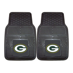 Fanmats - Fanmats Green Bay Packers 2-piece Vinyl Car Mats - A universal fit makes this two-piece mat set ideal for cars, trucks, SUVs and RVs. The officially licensed Green Bay Packers design in true team colors is permanently molded of vinyl for longevity.