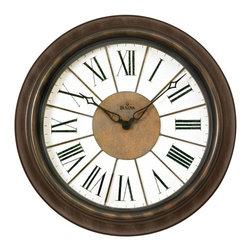 BULOVA - Newington Indoor/Outdoor Wall Clock - Indoor/Outdoor Clock