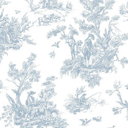 Light Blue Toile - AB27656 - Collection:Abby Rose 2