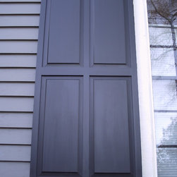 Wood Shutters - Raised panel shutter - Southern Shutter Company