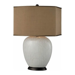 Ceramic Table Lamp Crackle - Only 1 left! Hurry now for 50% OFF!