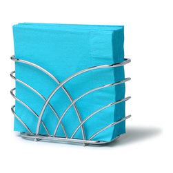 Spectrum Diversified Designs - Flower Napkin Holder - Chrome - From the Flower Collection, this napkin holder keeps napkins neat, stacked and contained. Made of sturdy steel with a chrome finish.