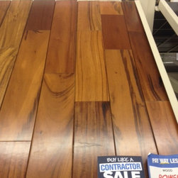 """Solid wood - Brazilian Tigerwood 5"""" wide. 3/4"""" thick"""