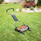 Reel Lawn Mower - Well-manicured gardens and lawns rely on reel mowers. Easy to maneuver, self-sharpening and without noxious fumes, this machine lets you wave goodbye to the gas can.