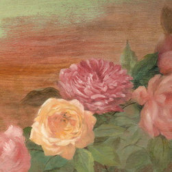 """Rustic Shabby Chic Painted Roses"" (Original) By Judith Cheng - Pretty Romantic Roses On Distress Background, Just The Thing To Compliment Your Shabby Chic Decor. Flowers Brighten Up Any Home. Fill Each Room With Different Variety & Color Combo."