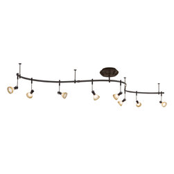 George Kovacs - George Kovacs P4078-467 Sable Bronze Low Voltage Halogen 8 Light Monorail Track - Sable Bronze Patina Finish