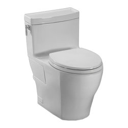 Toto - Toto MS626214CEFG#11 Aimes One-Piece High-Efficiency Toilet, 1.28 GPF - The refined style and Greek look of the Aimes collection is sure to bring elegance and beauty to any bath.
