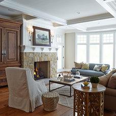 Beach Style Living Room by Hendel Homes