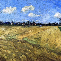 "Vincent Van Gogh The Ploughed Field - 16"" x 20"" Premium Archival Print - 16"" x 20"" Vincent Van Gogh The Ploughed Field premium archival print reproduced to meet museum quality standards. Our museum quality archival prints are produced using high-precision print technology for a more accurate reproduction printed on high quality, heavyweight matte presentation paper with fade-resistant, archival inks. Our progressive business model allows us to offer works of art to you at the best wholesale pricing, significantly less than art gallery prices, affordable to all. This line of artwork is produced with extra white border space (if you choose to have it framed, for your framer to work with to frame properly or utilize a larger mat and/or frame).  We present a comprehensive collection of exceptional art reproductions byVincent Van Gogh."