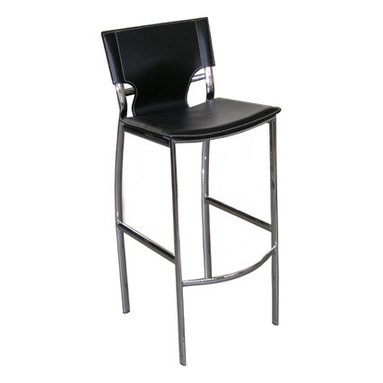 Venice Stool - plywood seat on metal frame in nickel or black finish