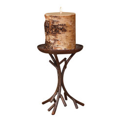 Deco Glow - Rustic Candle Holder, Set of Two (Candles Not Included) - The  Aspen  Style  candle  holder  is  a  beautiful  way  to  display  any  rustic  candle.  Two  candleholders  are  included  in  the  set.  A  beautiful  display  for  any  pillar  candle.