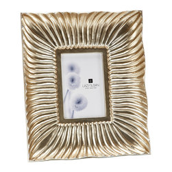 "Lazy Susan - Silver Shell Wave Frame, 4 X 6 - -Use 4""X 6"" Photo"