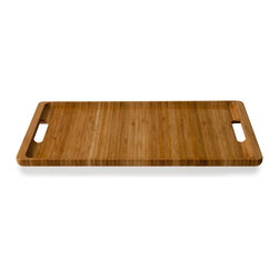 Kalon Tray - Simple bamboo Tray cut from one solid piece of material by Kalon. Available in two sizes (Small and Large). Sold individually, as a nesting pair or in sets with bread boards.