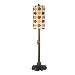 """Patio Living Concepts - Patio Living Concepts Coronado 58 Inch Floor Lamp w/ 2 Inch Bronze Body & Mojito - 58 Inch Floor Lamp w/ 2 Inch Bronze Body & Mojito Coffee Bean Sunbrella Shade Fabric belongs to Coronado Collection by Patio Living Concepts Simplistic contemporary styling highlights this weatherproof lamp. 2"""" bronze resin body tube, heavy weighted base and durable acrylic bulb enclosure allows the use of a standard 100 watt bulb. 12 ft. weatherproof cord and plug. Two level dimming switch. Mojito coffee bean outdoor shade fabric. Model # 47287 Lamp (1)"""