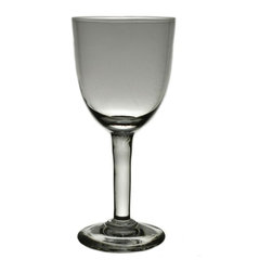 None visible - Consigned 4 Small Sherry or Port Glasses Near Set - A near set of 4 port or sherry glasses (one is very slightly taller and in thicker glass), antique English Edwardian, early 1900s.This is an antique One of a Kind item. Some wear and imperfections are to be expected, as described.