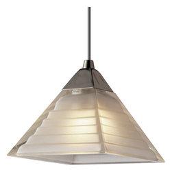 Progress Lighting Illuma-Flex Track System Bar Lighting - 12V low voltage T4 mini-pendant with pyramid white glass