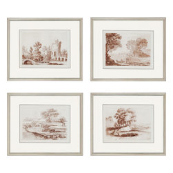 Paragon - Lorrain Sketches PK/4 - Framed Art - Each product is custom made upon order so there might be small variations from the picture displayed. No two pieces are exactly alike.