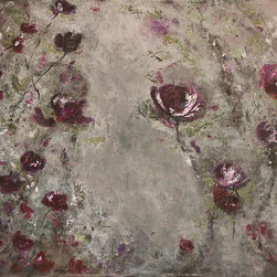 Theresa Stirling - Botanicals 2.9 - Lovely, whimsical new encaustic botanicals for your inspired space. Wax and oil combined, slowly, layer by layer, creates a luminous gorgeous piece to fit any style. Each one of these new pieces becomes a statement piece.  Greys, egpplants, cranberry colors... lavenders, all with a real fresh look. Needs no frame.