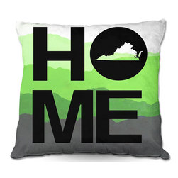 DiaNoche Designs - Pillow Woven Poplin - Jackie Phillips Home Virginia Green - Toss this decorative pillow on any bed, sofa or chair, and add personality to your chic and stylish decor. Lay your head against your new art and relax! Made of woven Poly-Poplin.  Includes a cushy supportive pillow insert, zipped inside. Dye Sublimation printing adheres the ink to the material for long life and durability. Double Sided Print, Machine Washable, Product may vary slightly from image.