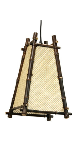 Oriental Unlimited - Itashi Japanese Hanging Lantern - Light bulb not included. Unique rustic design Japanese style hanging lantern. Use medium base, 40W light bulb. UL approved wiring, socket, power cord and switch. Provides, soft, warm and even light. Plugs directly into an electrical socket. No electrician required. Minimal assembly required. 9 in. W x 9 in. D x 13.5 in. H (1 lb.). Power cord: 65 in. L