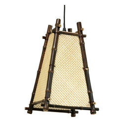 Oriental Unlimted - Itashi Japanese Hanging Lantern - Light bulb not included. Unique rustic design Japanese style hanging lantern. Use medium base, 40W light bulb. UL approved wiring, socket, power cord and switch. Provides, soft, warm and even light. Plugs directly into an electrical socket. No electrician required. Minimal assembly required. 9 in. W x 9 in. D x 13.5 in. H (1 lb.). Power cord: 65 in. L