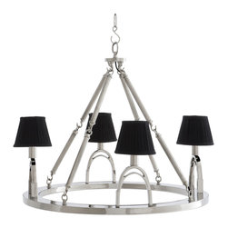 Eichholtz Oroa - Chandelier Jigger, Medium - Nickel finish, it includes both black and white shades