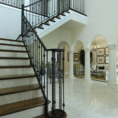 mediterranean staircase by Gritton & Associates Architects