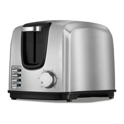 Black & Decker - Black & Decker T2707S 2 Slice Stainless Steel Toaster - 050875535039 - Shop for Toasters from Hayneedle.com! The Black & Decker T2707S 2 Slice Stainless Steel Toaster eliminates the fuss of remembering exactly how far to turn the knob to get the right level of browning. This stainless steel toaster makes it easy to enjoy bagels breads waffles and more with easy preset controls and six browning levels. The 1400-watt toaster has self-centering extra-wide slots to hold two pieces of the largest Texas toast you can get your hands on. Use the electronic toast control the frozen function and Bagel Mode to suit your needs for the perfect level of toasting. The toaster also features a function indicator light and a toast shade selector. The toaster includes a one-year warranty. Weight: 5 pounds. Dimensions: 12L x 12W x 8H inches.Black and Decker/ApplicaA household name with the reputation for quality and innovation Black & Decker is a leader in small home appliances and number one in a wide range of products for the home. As the exclusive licensee of Black & Decker household products in North South and Central America (excluding Brazil) Applica offers household solutions in award-wining designs to help make life easier and more comfortable at home. From irons toaster ovens and can openers to cooking appliances and food steamers Applica is dedicated to bringing you the cutting-edge Black and Decker products that streamline your daily life and make being at home more enjoyable.