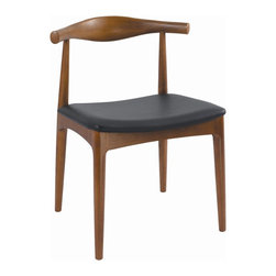 George Nelson - Ash Dining Chair in Brown Finish - No assembly required. 21.7 in. W x 19.3 in. D x 29.1 in. H. Weight: 13.2 lbs.