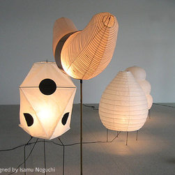 Akari Noguchi - Noguchi Lamp 22N/23N by Akari Lamps - Akari Noguchi 22N Table and 23Floor Lamp is an Akari Light Sculpture Designed by Isamu Noguchi. Modern during the post war era. Isamu Noguchi created an icon in the 50's. the lights have been in production for over 50 years and are still made by the same company in Japan using the traditional methods for creating japanese paper lanterns. The 22N/23N are made from the famous washi paper and fabricated by Hand in Japan.