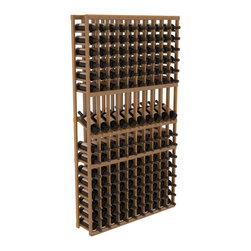 Wine Racks America - 10 Column Display Row Wine Cellar Kit in Redwood, Oak Stain + Satin Finish - Make your 10 best vintages the focal point in your wine cellar. Display rows allow presentation of favored labels and encourages simple cellar organization. Our wine cellar kits are constructed to industry-leading standards. You'll be satisfied. We guarantee it.