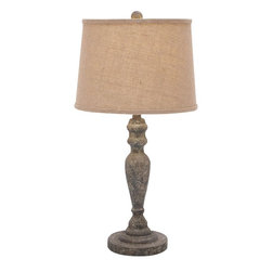 Benzara - Classic Solid Wooden Table Lamp with Stable Base Design - Adding a touch of class to the table decor, this fantastic looking table lamp will light up your table area effectively. With a stable base offering great balance to the structure above, the lamp also has a perfectly crafted stalk that holds the lamp shade. Mostly useful for students and avid readers alike, this lamp shade can also be placed effectively near the bedside much to the convenience of bedtime readers. This lamp shade spreads out elegantly encompassing the bulb securely and brings in an element of visual appeal to the table lamp. With its attractive features and high utility aspects, this wood table lamp will be a worthy addition to your home. The lamp shade is effective in masking the excess light and ensures a pleasing and adequate lighting effect. This elegant table lamp is made of high quality wood that ensures a long lasting performance without any damage or wear..