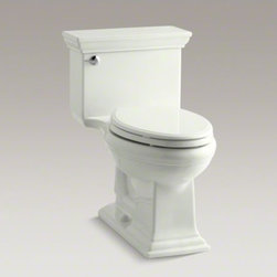 KOHLER - KOHLER Memoirs(R) Stately Comfort Height(R) one-piece elongated 1.28 gpf toilet - Inspired by elegant architecture and featuring crisp lines, this Memoirs collection toilet with Stately design delivers functionality and water savings--as well as traditional style. A high-efficiency 1.28-gallon flush offers up to 16,500 gallons of water
