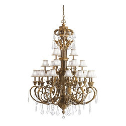 KICHLER - KICHLER Ravenna European Traditional Chandelier X-NVR1012 - The intricate scroll works with leaf accents are featured in the magnificent frame of Kichler Lighting Ravenna European Traditional chandelier. The Ravenna finish adds to the old world elegance of the chandelier. Casting a charming yet grand brilliance to the room, the chandelier creates an intimate setting with a touch of European style.
