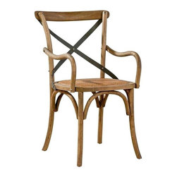EuroLux Home - New Arm Chair Other Bentwood Pair Metal Arm - Product Details