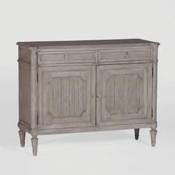Jules Chest by Gabby - Ribbed doors and fluted legs accentuate the French styling of the Jules Chest. Beaded trimming along the drawers and a contrasting top add the finishing touches to this classic piece.