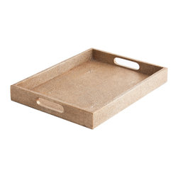Made Goods - Emery Large Copper Tray - Whether you use it for serving or just as an elegant accent piece, this simple tray is a stunning addition to your decor. This cooper tray will bring earthy texture to your entertaining.