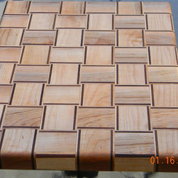 Cutting Boards - This is a basket weave design cutting board made from hard maple and Black Walnut.