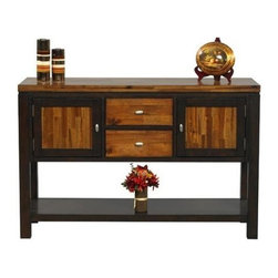 Winners Only - Fifth Avenue Server in Acacia Finish - Two doors. Two drawers. One shelf. 54 in. W x 18 in. D x 35 in. H